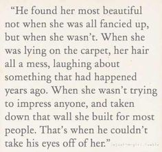 Just liked this... Be yourself, The right person will eventually find *you* beautiful.
