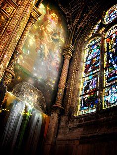 Stained Glass Window, Saint Eustache, Paris.