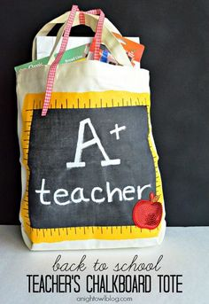 Back to School Teacher's Tote by @A Night Owl Blog #Michaelsbts