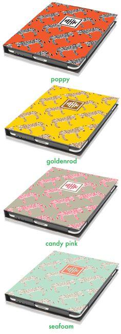 I spy......Nico and Lala Zebra iPad Covers - I WANT!