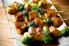 Tamarind Seitan Kabobs with homemade seitan #vegan