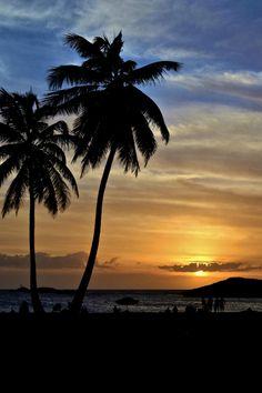 Sunset in Vega Baja, Puerto Rico...