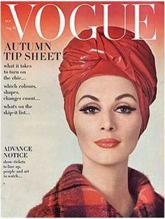 Vintage Vogue magazine covers - mylusciouslife.com - Vintage Vogue August 1962 - Wilhemina.jpg