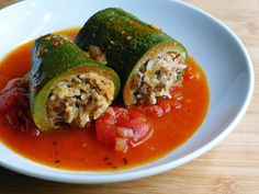 Stuffed Zucchini - (change out the rice as needed)