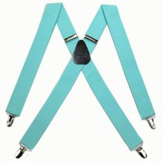 Solid Suspenders in Tiffany Blue - Dress your Groom in your wedding day colors via www.buyyourties.com - Made in U.S.A