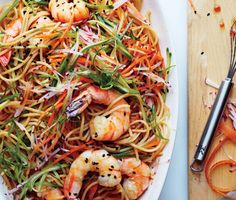 Find the recipe for Sesame Rice Noodles with Shrimp and other radish recipes at Epicurious.com