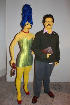 Simpsons costumes (best Marge ever!)