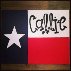 b.krafty texas flag canvas! #texas