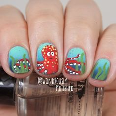 Wondrously Polished Octopus nails