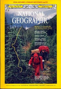 Pacific crest trail in the National Geographic magazine
