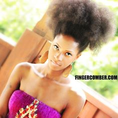 What looks this natural, when pulled up into an AMAZEBALL/AFRO-PUFF!
