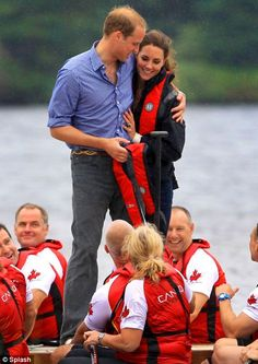 Prince William and Catherine after Catherine rowed with members of a Canadian crew team.  #Prince #William #Kate #Middleton