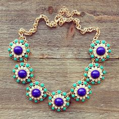 Blue + turquoise statement necklace.