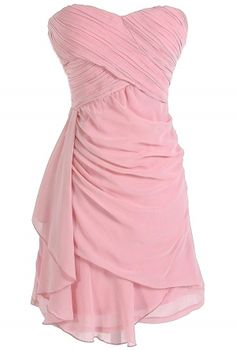 Draped Chiffon Dress in Rose