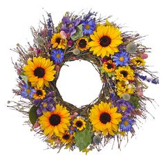Sunflower wreath htt