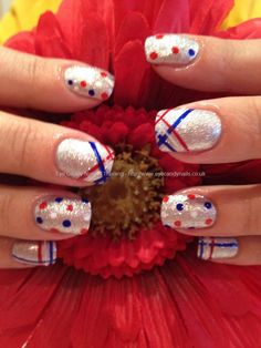 Jubilee freehand nail art