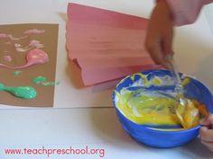 puffy paint, puffi paint, paint cupcak, paint ice