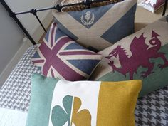 hand printed  rustic Scottish  saltire flag by helkatdesign, $76.00 want one of each