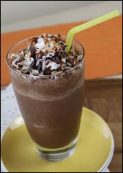 Hungry Girl's 120 calorie version of the Starbucks Mocha Coconut Frap