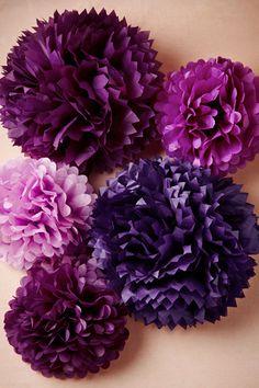 Radiant Orchid - purple poms