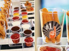 Football Party with stadium style food display