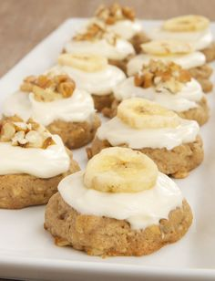 The popular cake gets the cookie treatment with Hummingbird Oatmeal Cookies. They're filled with oats, bananas, pineapple, cinnamon, and nuts, and topped with a cream cheese frosting. - Bake or Break
