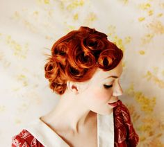 pin curls -- great gatsby party, anyone?