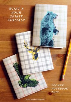 What's your spirit animal? Notebook trio set.