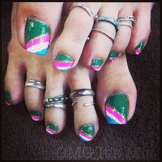 It's just an express pedi. No cuticle trimming or watever. #pedi #paint #toes #toenails #nails