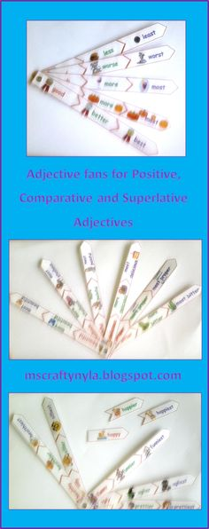 Adjective Activities - Tiered for Positive, Comparative and Superlative Adjectives