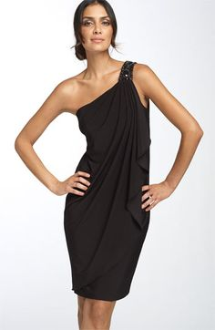 Shoulder Jersey Dress