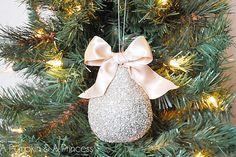 Glass Glittered Pear