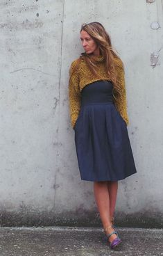 mustard yellow chunky cropped sweater shrug / snug by ileaiye, $105.00