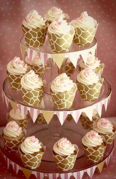 Pink Giraffe Baby Shower Dessert Table
