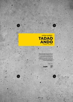 TADAO ANDO by Haitham Almayman, via Behance
