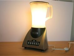 reuse recycle, night lights, blender, lamp, kitchen counters, mason jars, recycled crafts, new crafts, diy projects