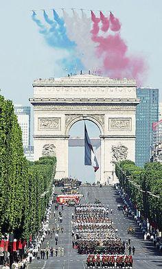 Patrouille de France .14 Juillet défilé aérien