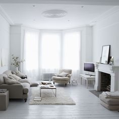 beige/grey/white airy living room