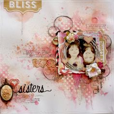 Mixed media style scrapbook page made by Websters Pages design team member Gabrielle Pollacco using Sprinkled with Love collection