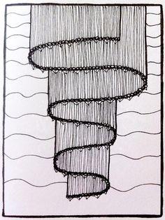ribbon / zentangle