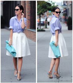 American Apparel Clutch, H&M Skirt, Joe Fresh Shirt