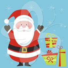 An essential addition to any Christmas clipart collection, these images include Santa Claus clip art, and of course Christmas presents clip art.   #clipart