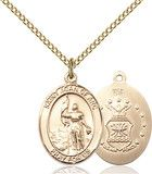 St. Eusebia, Roman Catholic Benedictine abbess and Martyrs, slain with her community by the Muslim Saracens at Saint-Cyr, France. Forty nuns died with Eusebia. Feastday Sept. 20 Image of St. Joan Of Arc /Coast Guard Pendant (Gold Filled)