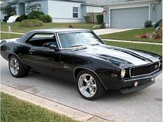 Muscle Car lust - 1969 Z/28 Camaro!  The new Camaro's are wanna-be hot rods....this baby is the real, sweet deal....
