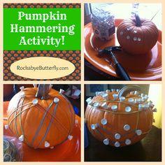 Pumpkin Hammering/ Geoboard Activity!