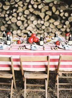 table settings, wood, rustic table, dinner parties, pomegranates