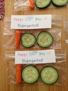 100th day of school healthy snack