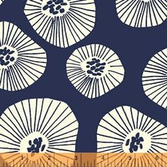 Lotta Jansdotter / Echo / Scattered Blooms in Navy from Hawthorne Threads $8.95/yd