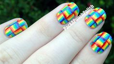 Weaved Rainbow - Nail Art Gallery by nailsmag.com
