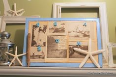 How to Make Beach Themed Art with Vintage Pages decor crafts, beaches, idea, cottag, beach craft, vintage, beach theme, theme art